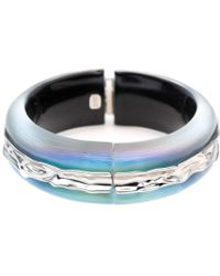 Alexis Bittar - Crumpled Rhodium Inlay Hinge Bracelet - Lyst
