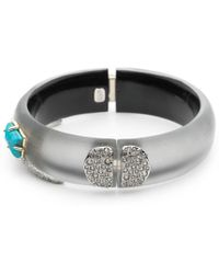 Alexis Bittar - Crystal Encrusted Fancy Shield Hinge Bracelet You Might Also Like - Lyst