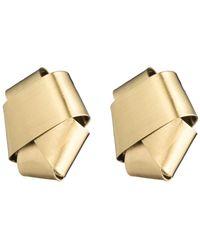 Alexis Bittar - Folded Knot Post Earring - Lyst