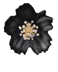 Alexis Bittar Crystal Burst Flower Pin - Black