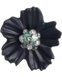 Alexis Bittar Liquid Pvd Flower Pin - Black