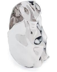 Alexis Bittar Crumpled Wide Cuff Bracelet - Metallic