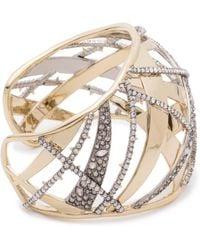 Alexis Bittar Crystal Encrusted Plaid Cuff Bracelet R2bLklxnZi