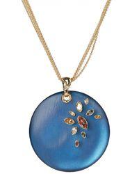 Alexis Bittar Navette Crystal Large Disc Pendant Necklace - Multicolour