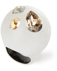 Alexis Bittar Crystal Studded Bubble Ring - Metallic