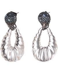 Alexis Bittar - Crystal Encrusted Ombre Paisley Rope Teardrop Post Earring - Lyst