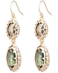 Alexis Bittar - Double Georgian Stone Wire Earring - Lyst