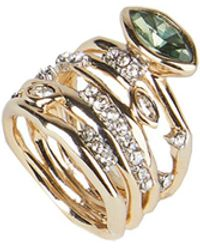 Alexis Bittar Navette Crystal Layered Ring - Metallic