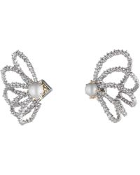 Alexis Bittar | Crystal Lace Orbiting Pearl Post Earrings You Might Also Like | Lyst
