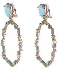 Alexis Bittar Multi-stone Dangling Clip Earring Bracelet - Multicolour