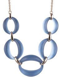 Alexis Bittar Large Link Necklace - Blue