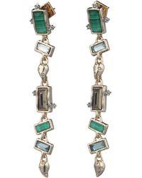Alexis Bittar - Molten Metal Swarovski Crystal & Multi-stone Dangling Post Earrings - Lyst