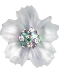 Alexis Bittar Liquid Pvd Flower Pin - Metallic