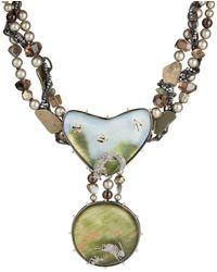 Alexis Bittar Woodland Landscape Beaded Bib Necklace - Metallic