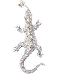 Alexis Bittar - Crystal Encrusted Lizard Pin - Lyst