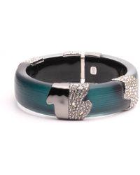Alexis Bittar - Crystal Encrusted Asymmetrical Inlay Hinge Bracelet - Lyst