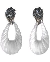 Alexis Bittar - Frosted Crystal Encrusted Ombre Paisley Rope Teardrop Post Earring - Lyst