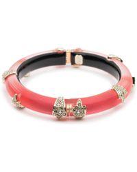 Alexis Bittar - Crystal Encrusted Skinny Studded Hinge Bracelet - Lyst