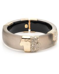 Alexis Bittar Crystal Encrusted Sectioned Hinge Bracelet - Multicolour