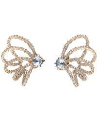 Alexis Bittar Crystal Lace Orbiting Post Earring - Metallic