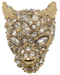 Alexis Bittar - Gold Tone Pave Panther Slide You Might Also Like - Lyst