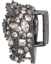 Alexis Bittar Gunmetal Tone Pave Panther Slide You Might Also Like - Multicolour