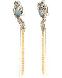 Alexis Bittar - Crystal Encrusted Lovebirds Tassel Clip Earring - Lyst