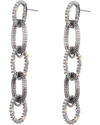 Alexis Bittar - Crystal Encrusted Mesh Chain Link Post Earring - Lyst