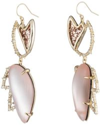 Alexis Bittar - Abstract Tulip Glitter Wire Earring - Lyst