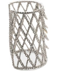 Alexis Bittar - Crystal Encrusted Spiked Lattice Cuff Bracelet You Might Also Like - Lyst