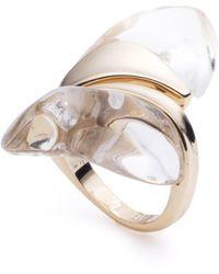 Alexis Bittar Liquid Lucite Sculptural Ring - Metallic