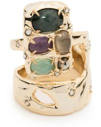 Alexis Bittar - Stone Slab Double Banded Cocktail Ring You Might Also Like - Lyst