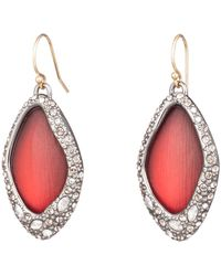 Alexis Bittar Pave Encased Drop Wire Earring - Red