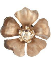 Alexis Bittar Sputnik Flower Pin, Chocolate - Brown