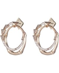 Alexis Bittar - Crystal Encrusted Bamboo Orbiting Post Earring - Lyst