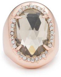 Alexis Bittar - Crystal Encrusted Halo Stone Ring - Lyst
