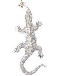 Alexis Bittar Crystal Encrusted Lizard Pin - Multicolor