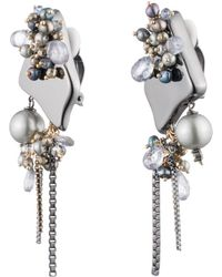 Alexis Bittar - Peacock Pearl Cluster Clip Earring - Lyst