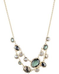Alexis Bittar Georgian Multi Stone Double Strand Necklace - Multicolour