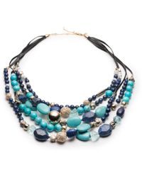 Alexis Bittar - Multi-strand Beaded Bib Necklace With Leather Accents You Might Also Like - Lyst