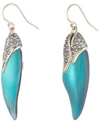 Alexis Bittar - Crystal Capped Feather Earrings - Lyst