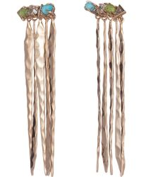 Alexis Bittar - Multi-stone Hammered Fringed Post Earring - Lyst