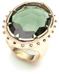 Alexis Bittar Georgian Stone Ring - Metallic