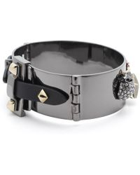 Alexis Bittar - Vanitas Leather Buckle Hinge Bracelet - Lyst