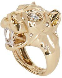 Alexis Bittar Panther Head Ring - Metallic