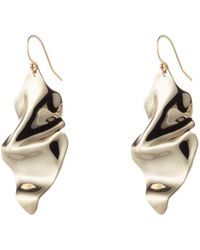 Alexis Bittar - Crumpled Gold Wire Earring - Lyst