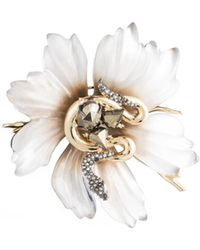 Alexis Bittar - Lucite Flower And Snake Pin You Might Also Like - Lyst