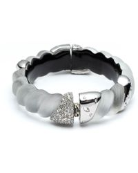 Alexis Bittar - Frosted Crystal Encrusted Twisted Rope Hinge Bracelet - Lyst