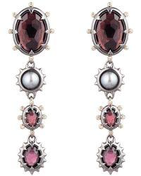 Alexis Bittar Georgian Stone Dangling Clip Earring - Multicolour