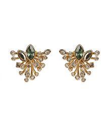 Alexis Bittar Navette Crystal Burst Stud Earring - Multicolour